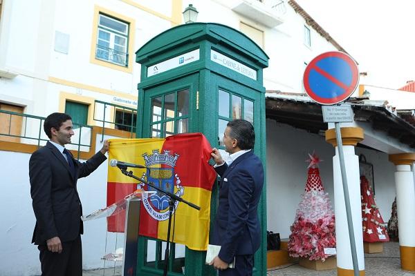 COM A PRESENÇA DO PRESIDENTE EXECUTIVO DA ALTICE PORTUGAL, ALEXANDRE FONSECA | Altice Portugal inaugura cabine de leitura em Constância | EOL - EntroncamentoOnline